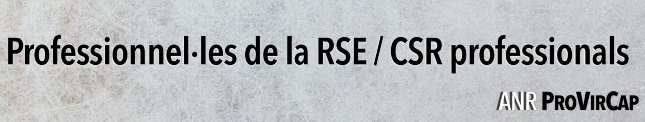 Professionnel·les de la RSE / CSR professionals